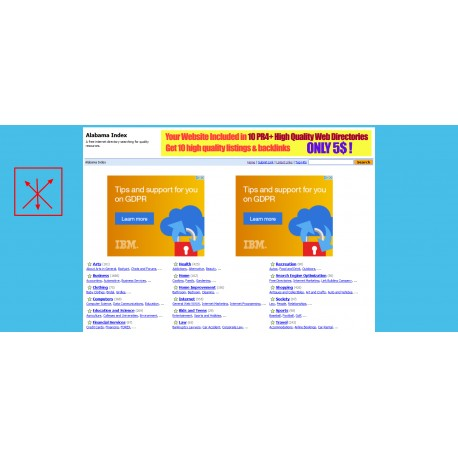 Banner on DA29 PA39 19000 indexed pages 5 years old general web directory